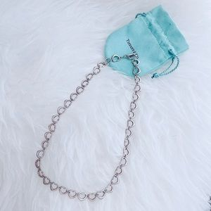 RARE Vtg Tiffany & Co. Open Heart Necklace Toggle